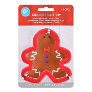 gingerbread boy soft grip cookie cutter
