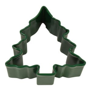 "1.5"" Green Mini Christmas Tree W/ Snow cookie cutter"