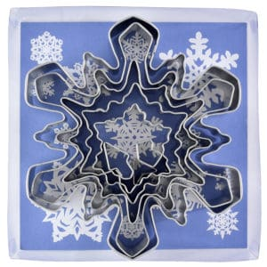 SNOWFLAKE cookie cutter set