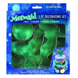 mermaid cake decorating set